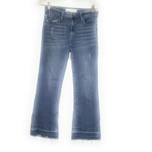 Hidden Jeans Fray Hem Flare Medium Wash Denim 29